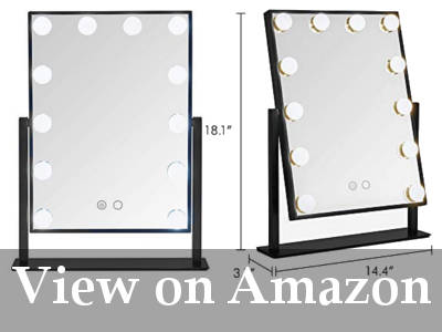 10x lighted makeup mirror reviews