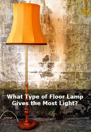 what type of floor lamp gives the most light. Black Bedroom Furniture Sets. Home Design Ideas