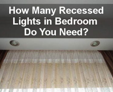 how many recessed lights in bedroom