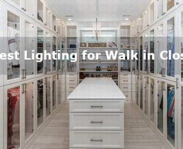 best lighting for walk in closet