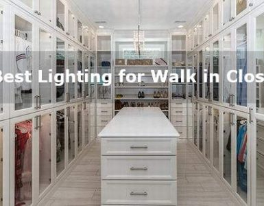 best lighting for walk in closet