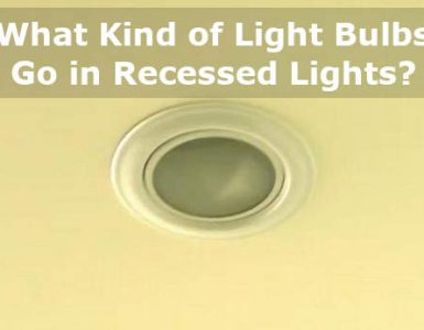 what kind of light bulbs go in recessed lights