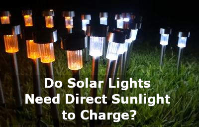 do solar lights need direct sunlight to charge
