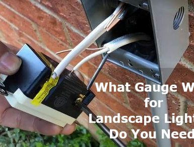 what gauge wire for landscape lighting
